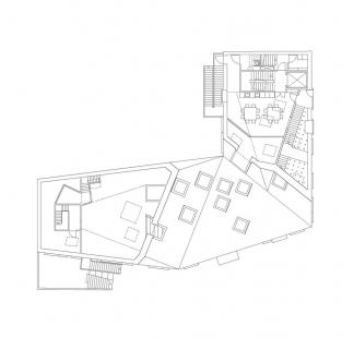 Ama'r Children's Culture House - Půdorys druhého patra - foto: Dorte Mandrup Arkitekter