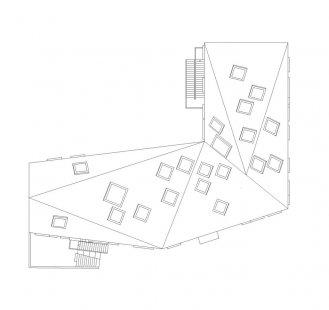 Ama'r Children's Culture House - Výkres střechy - foto: Dorte Mandrup Arkitekter