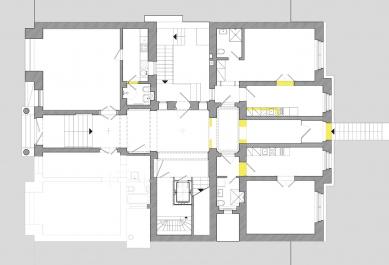 Rekonstrukce činžovního domu Matoušova 12 - 1NP