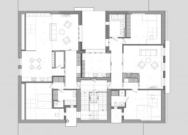 Rekonstrukce činžovního domu Matoušova 12 - Podkroví