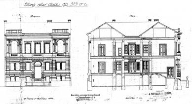 Rekonstrukce činžovního domu Matoušova 12 - Stav v r. 1922