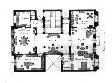 Rekonstrukce činžovního domu Matoušova 12 - Bratři Kohnové: návrh interiéru (1927)