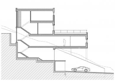 Vila Komín - Řez schodištěm