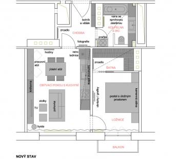 Proměna malého bytu v cihlovém domě - Současný stav
