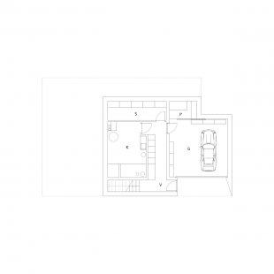Dom K2 - Půdorys 1.np - foto: paulíny hovorka architekti