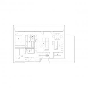 Dom K2 - Půdorys 2.np - foto: paulíny hovorka architekti