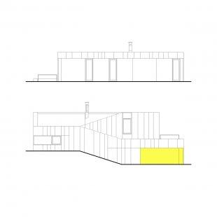 Dom K2 - Západní a východní pohled - foto: paulíny hovorka architekti