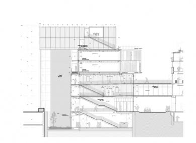 Škola architektury ve Štrasburku - Řez - foto: Marc Mimram