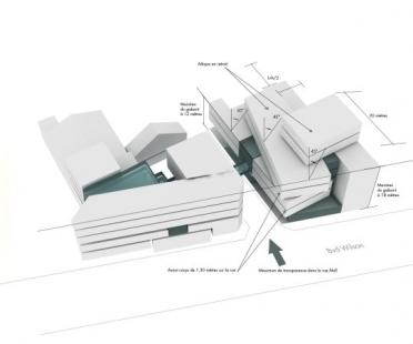 Škola architektury ve Štrasburku - Axonometrie - foto: Marc Mimram