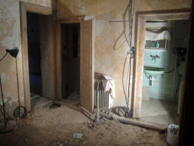 Interiér bytu na Letné - Průběh rekonstrukce