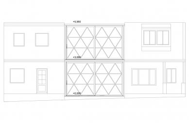 Řadový rodinný dům - Severovýchodní pohled - foto: ROHÁČ STRATIL - Architektonický ateliér
