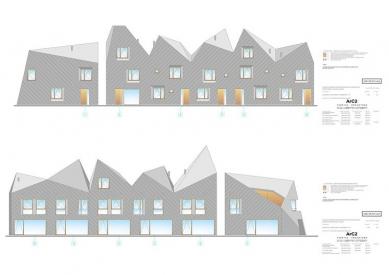 Řadové rodinné domy MikMak - Pohledy - foto: Fabryka Projektowa ArC2