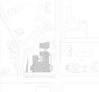 Oblastní galerie v Liberci - Situace - foto: SIAL architekti a inženýři