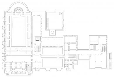 Oblastní galerie v Liberci - Půdorys 1.pp - foto: SIAL architekti a inženýři