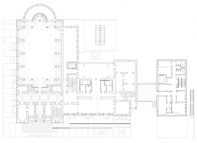 Oblastní galerie v Liberci - Půdorys 1.np - foto: SIAL architekti a inženýři