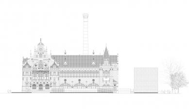 Oblastní galerie v Liberci - Severní pohled - foto: SIAL architekti a inženýři
