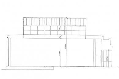 Československý pavilon při Bienále v Benátkách - Podélný řez