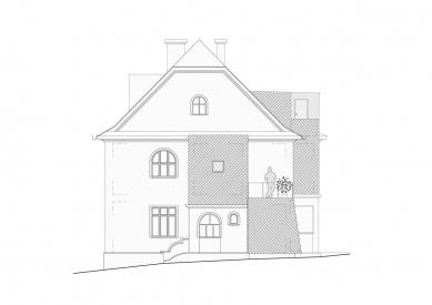 Rekonstrukce rodinného domu Lerchova  - Severozápadní pohled - foto: studio AEIOU