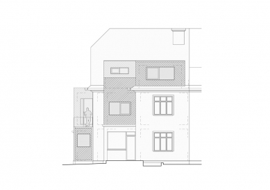 Rekonstrukce rodinného domu Lerchova  - Jihozápadní pohled - foto: studio AEIOU