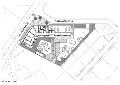 Mateřská školka Omenapuisto - Situace - foto: Arkkitehtitoimisto Seppo Häkli Ky