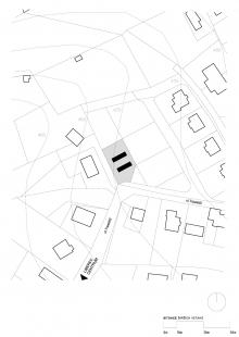 Zen-Houses - Ateliér a dům - Situace - foto: Petr Stolín architekt