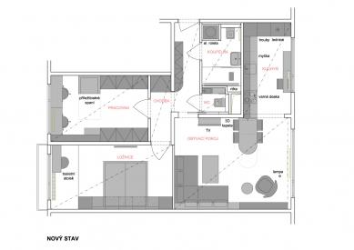 Rekonstrukce panelákového bytu - Současný stav