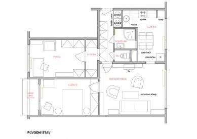Rekonstrukce panelákového bytu - Původní stav