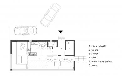 Rodinný dům Jizerské hory - 1NP