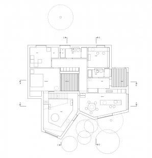Villa Wienberg - Půdorys přízemí - foto: Wienberg Architects