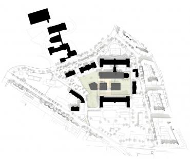 Univerzitní knihovna a Multifunkční centrum UJEP - Situace - foto: SIAL architekti a inženýři
