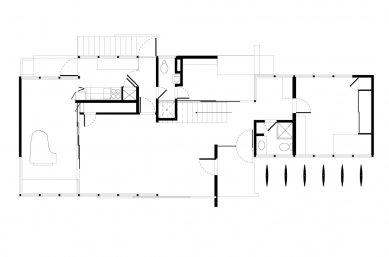 Vlastní dům Richarda Neutry s ateliérem - Půdorys přízemí