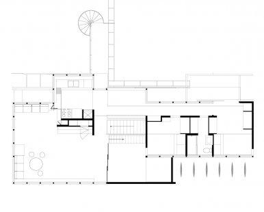 Vlastní dům Richarda Neutry s ateliérem - Půdorys patra