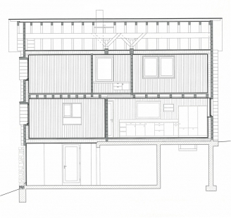 Gion Caminada House - Řez