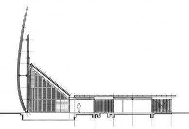 Jean Marie Tjibaou Cultural Centre - Řez - foto: © Renzo Piano Biulding Workshop