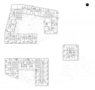 Obytný komplex Nová terasa - Bytové podlaží, obvykle 2. NP