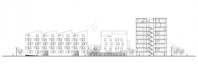Obytný komplex Nová terasa - Řezopohled
