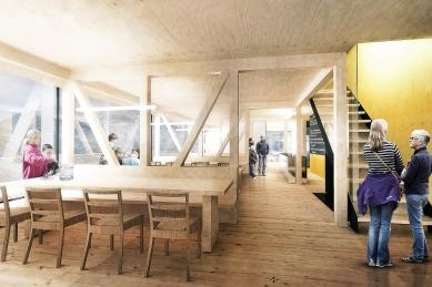 Nová Kežmarská chata - vítězný návrh
