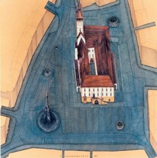 Úpravy Horního náměstí - Axonometrie - foto: archiv autorů