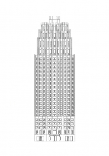 Mainplaza Highrise - Pohled - foto: Kollhoff Architekten