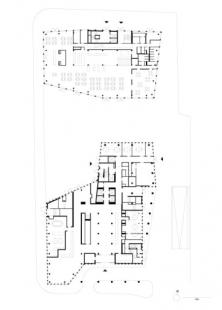 Hotel Empire Riverside - Půdorys přízemí - foto: David Chipperfield Architects