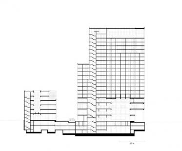 Hotel Empire Riverside - Řez - foto: David Chipperfield Architects