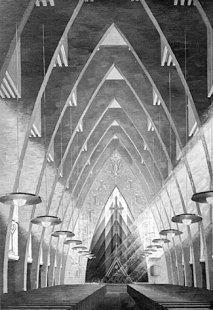 Kostel Hohenzollernplatz - Kresba