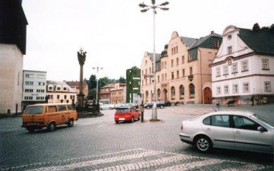 Revitalizace centra Náchoda - foto: vizualizace: Jan Pajurek 5/2002