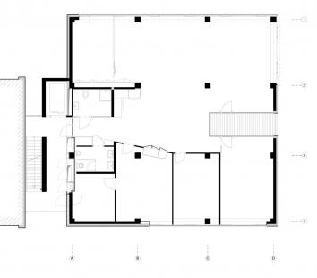 Polyfunkční dům D - Půdorys - nebytový prostor