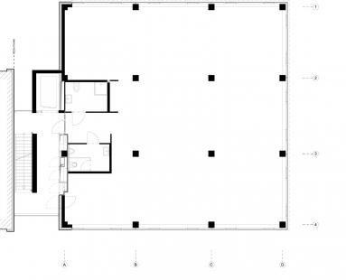 Polyfunkční dům D - Půdorys - atelierový byt