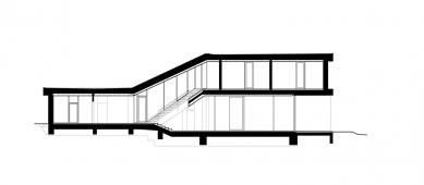 Rodinný dům u Frýdlantu nad Ostravicí - Řez