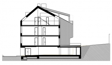 Novostavba bytového domu Fastrova 7 - Řez