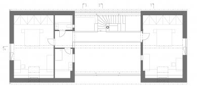 Novostavba rodinného domu, Praha–východ - Půdorys podkroví