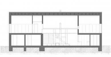 Novostavba rodinného domu, Praha–východ - Řez