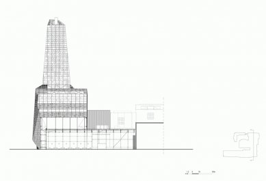Spalovna odpadu - Řez F-F' - foto: Erick van Egeraat associated architects